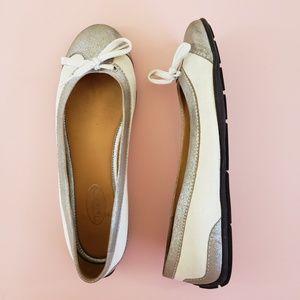 Talbots Canvas Pewter Slip On Ballet Flat Sneaker